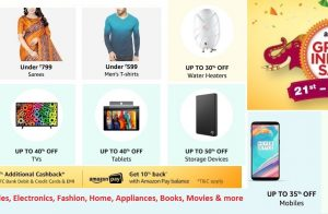 Amazon's Great Indian Sale January 2018