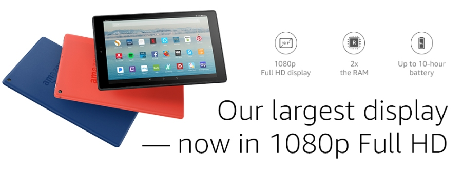 Amazon Fire HD 10 Design and Choices
