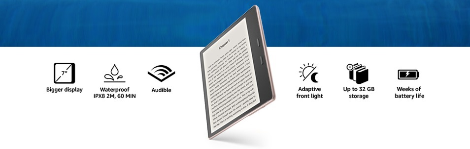 Kindle  Oasis Features snippet