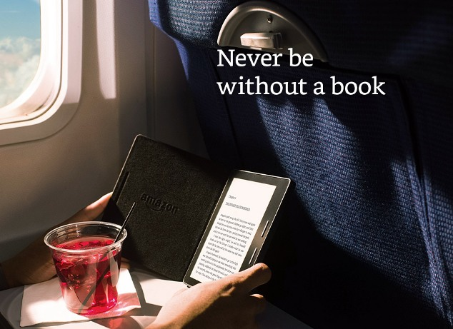 Kindle Oasis , never be without a book