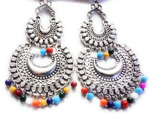Multicolored Chandbali by Craftleela